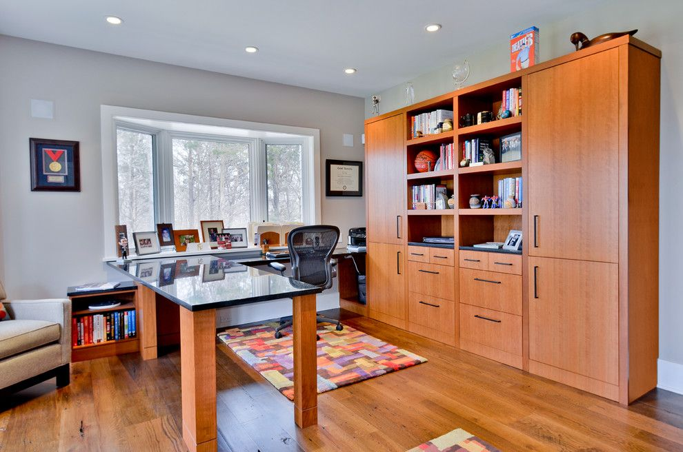 Riverhead Building Supply for a Traditional Home Office with a Quarter Sawn Cherry and Sag Harbor, New York by Riverhead Building Supply