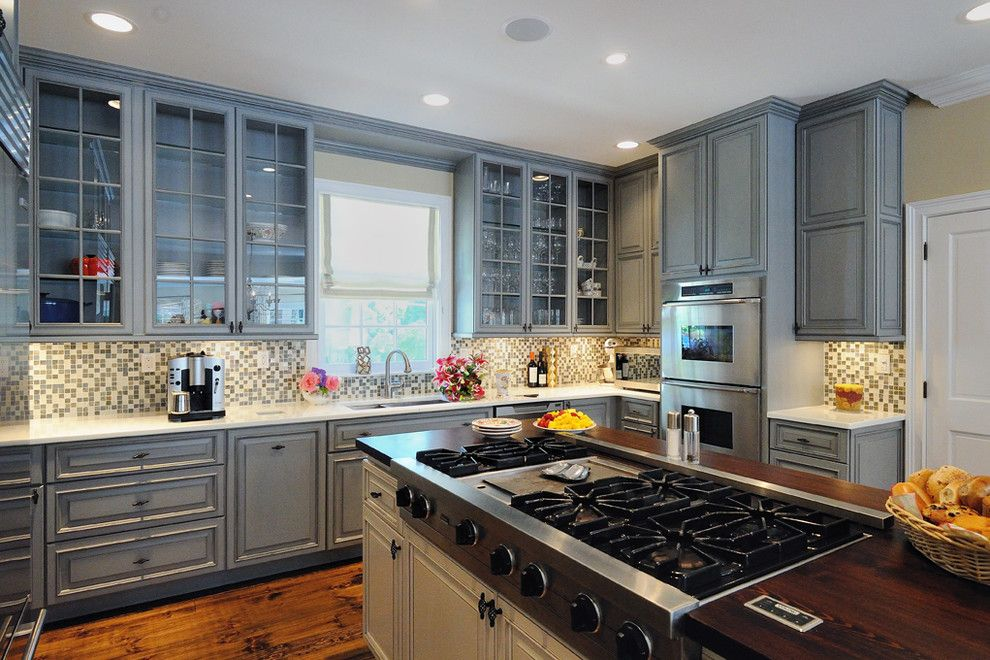 Riverhead Building Supply for a Traditional Kitchen with a White Glass Countertops and Locust Valley, New York by Riverhead Building Supply