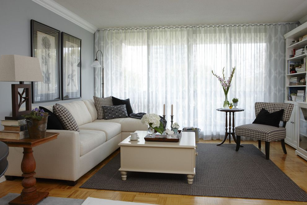 Robert Allen Fabrics for a Contemporary Living Room with a Contemporary and Jane Lockhart Interior Design by Jane Lockhart Interior Design