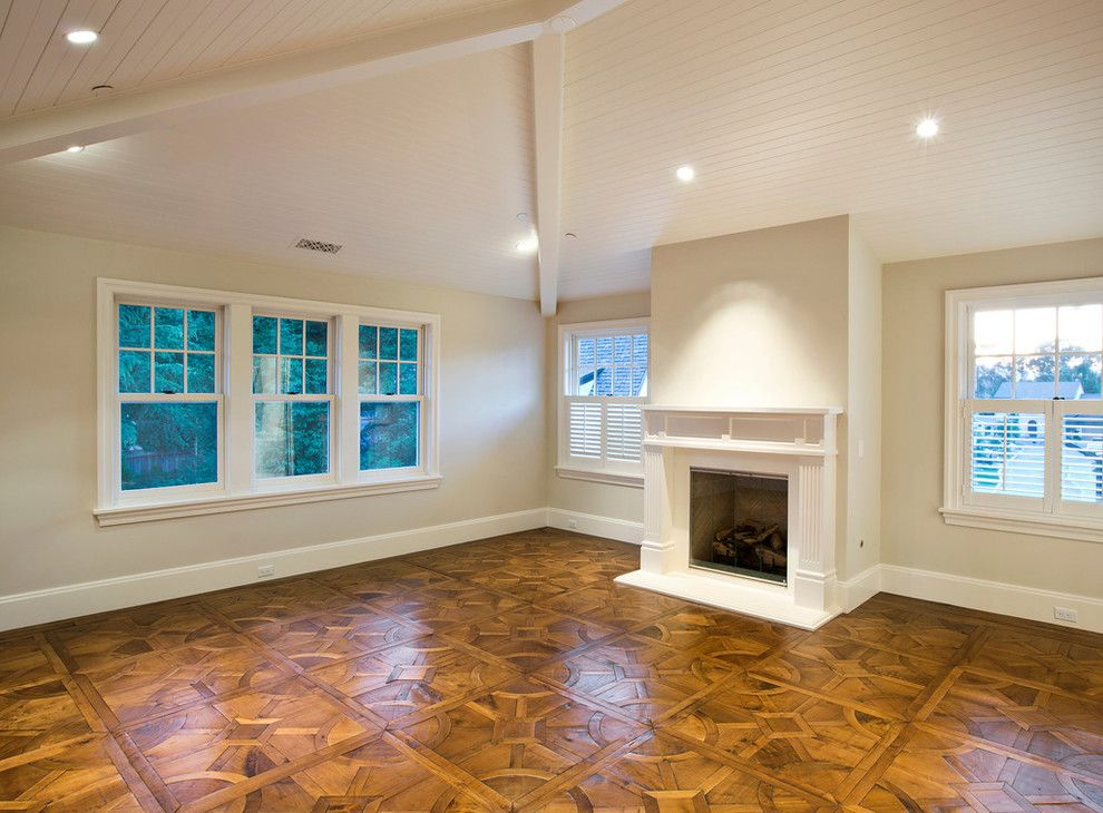Robson Homes for a Traditional Family Room with a Custom Wood Floor and the Thrash House   Historic Renovation in Los Gatos, Ca by Robson Homes
