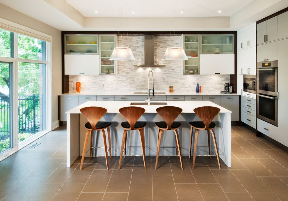 Roca Tile for a Contemporary Kitchen with a Pendant Lights and Whitehaven Phase 1 by Roca Homes