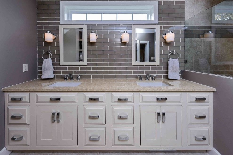 Roca Tile for a Traditional Bathroom with a Master Bath and Master Bathroom & Office Addition   Camp Hill, Pa by Deimler Family Construction