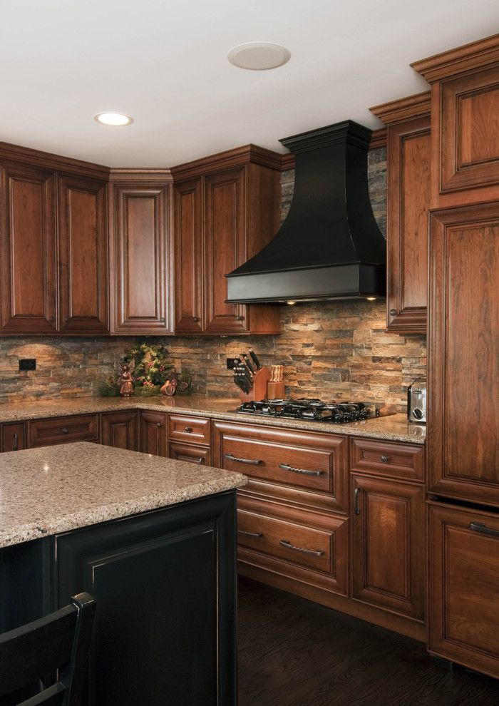 Roca Tile for a Traditional Kitchen with a Traditional and Itasca, Il    Kitchen Design and Remodel by Design First  Builders