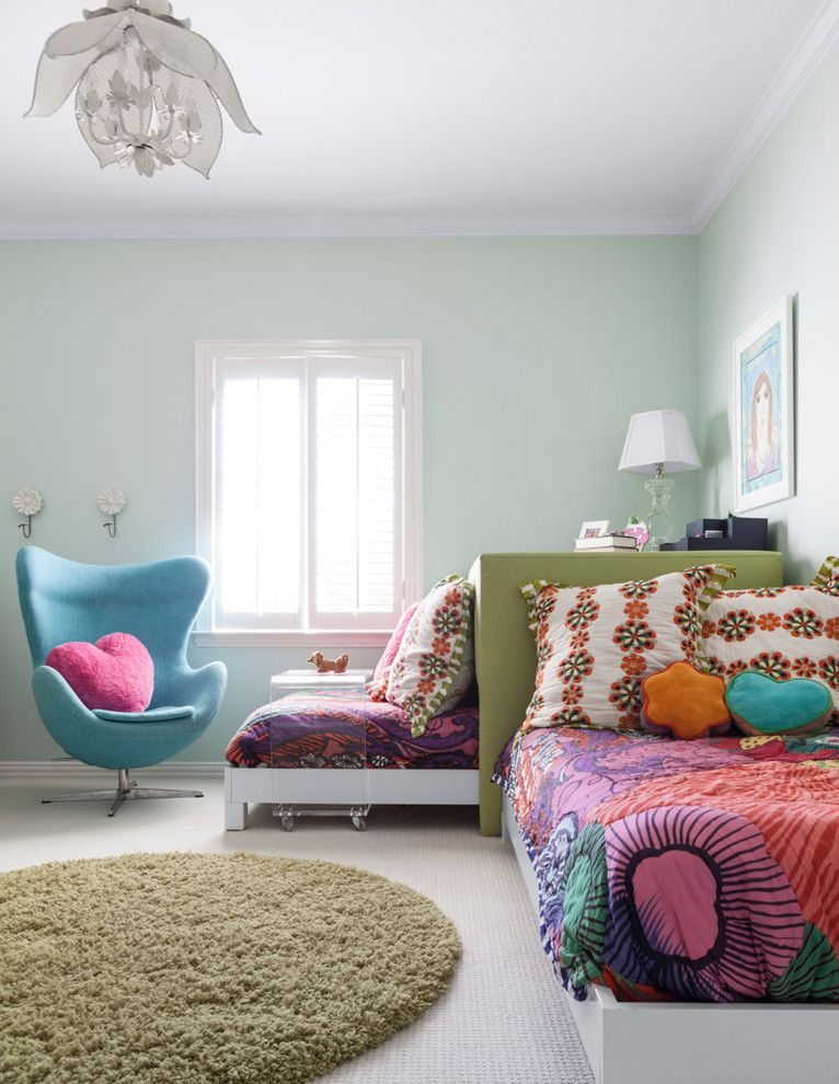 Rolly Chair for a Transitional Kids with a Mint Green Wall and Centenary Feb 2013 by Coats Homes