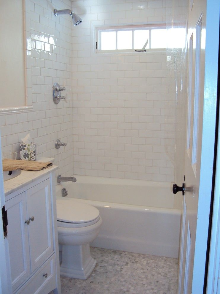 Roma Tile for a Traditional Bathroom with a Settecento Handcrafted Subway and Cozy New England Bath by Roma Tile
