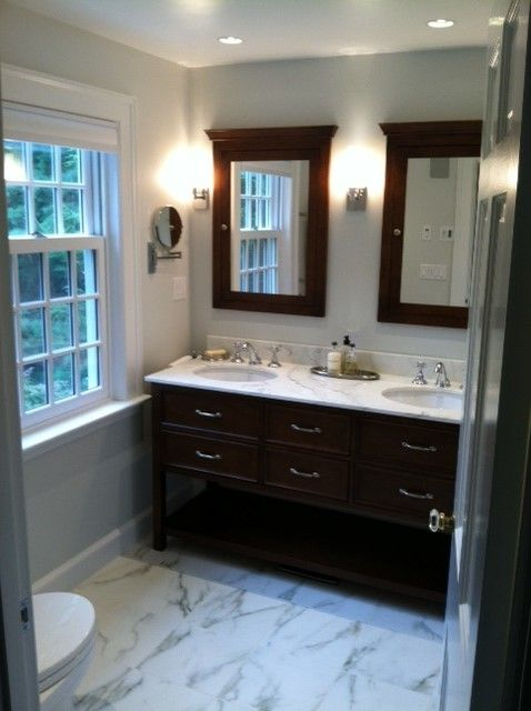 Roma Tile for a Transitional Bathroom with a Transitional and New England Bath by Roma Tile