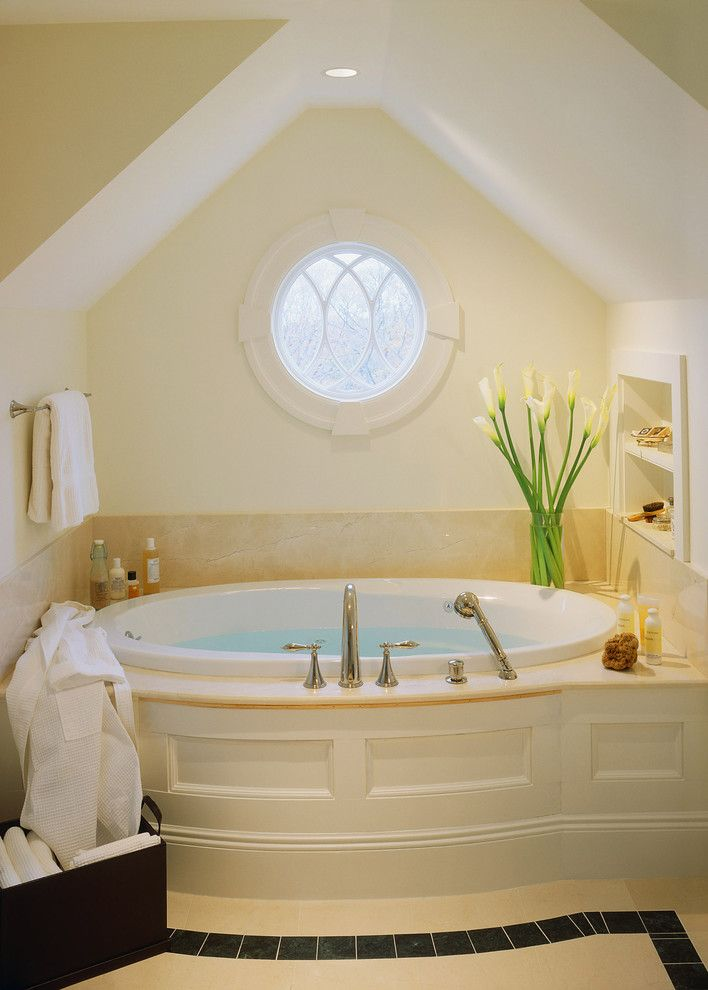 Roman Tub for a Modern Bathroom with a Oval Tub and Hesperus by Siemasko + Verbridge