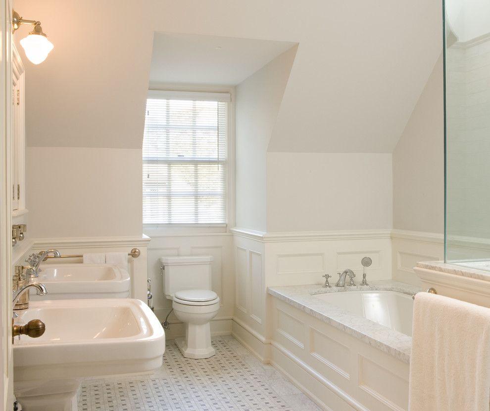 Roman Tub for a Traditional Bathroom with a Bathroom and Toronto Restoration by Heintzman Sanborn Architecture~Interior Design