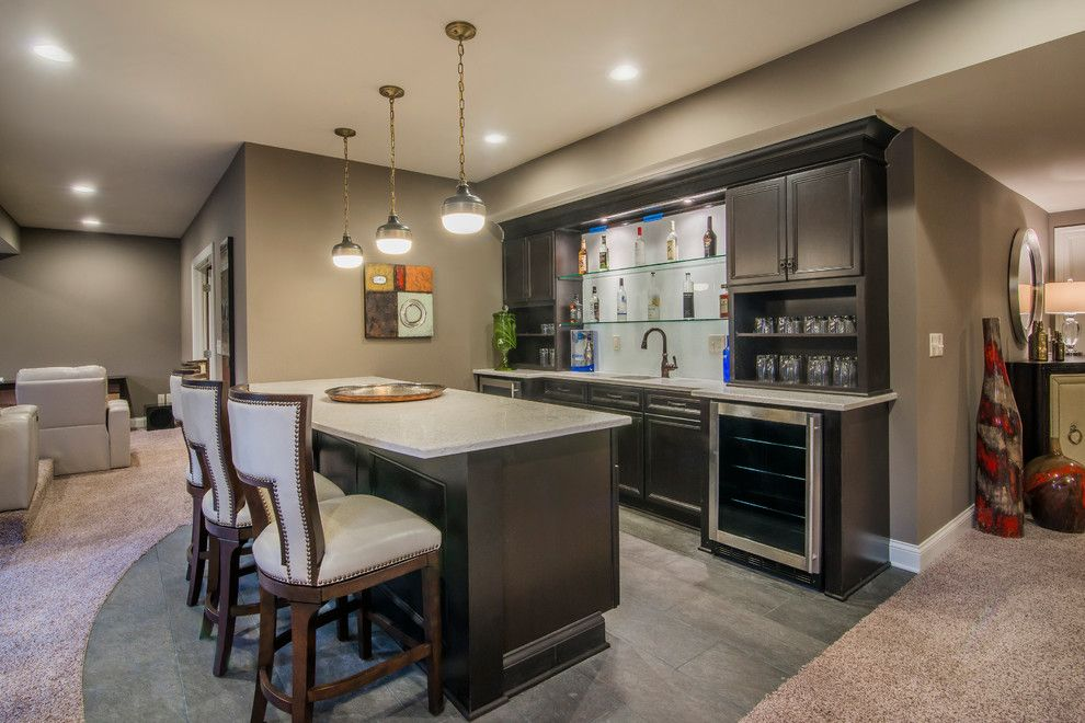 Romanelli and Hughes for a Modern Home Bar with a Bedroom and Romanelli & Hughes Parade Home by Bradshaw Photography Llc.