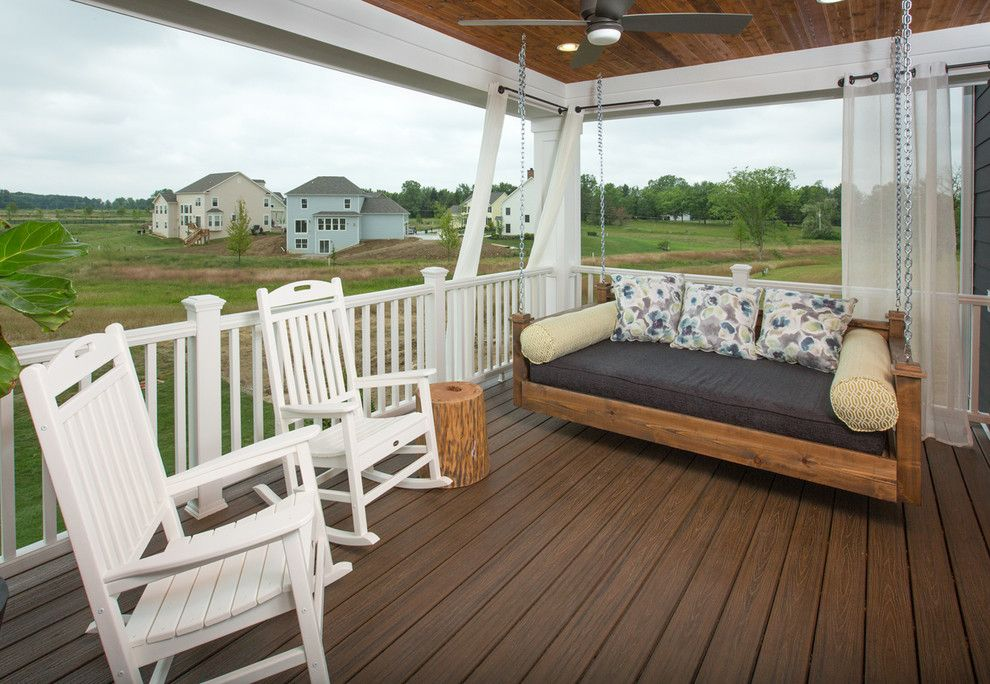 Romanelli and Hughes for a Transitional Porch with a Custom and Jerome Village Lot 125 by Romanelli & Hughes Custom Home Builders