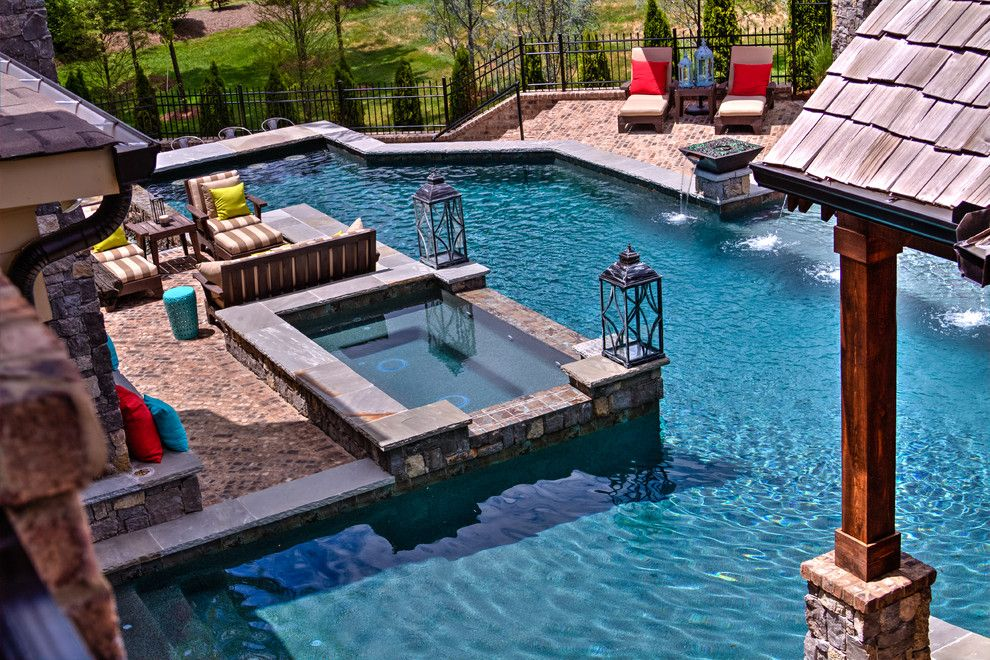 Rondo Pools for a Contemporary Pool with a Contemporary and Rustic Elegance by Rondo Pools, LLC