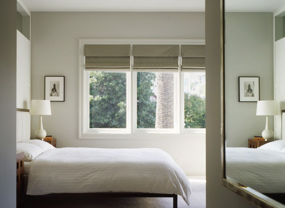Rotmans Furniture for a Traditional Bedroom with a Roman Shades and Dolores Street Residence by Schwartz and Architecture
