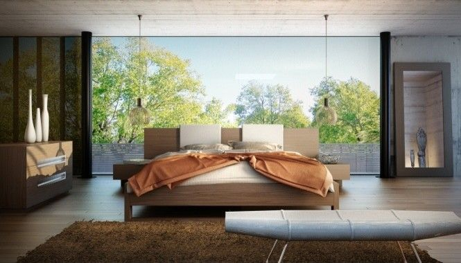 Rove Concepts for a Contemporary Bedroom with a Modloft and Monroe Bed by Modloft | Supplied by Rove Concepts by Rove Concepts