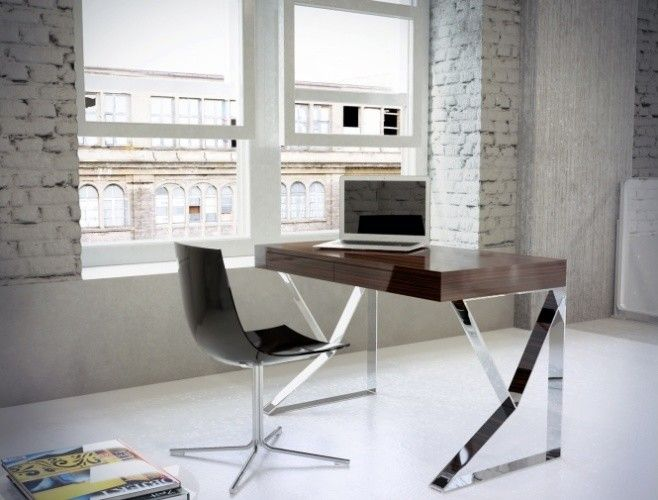Rove Concepts for a Contemporary Home Office with a Houston Desks and Houston Desk by Modloft | Supplied by Rove Concepts by Rove Concepts