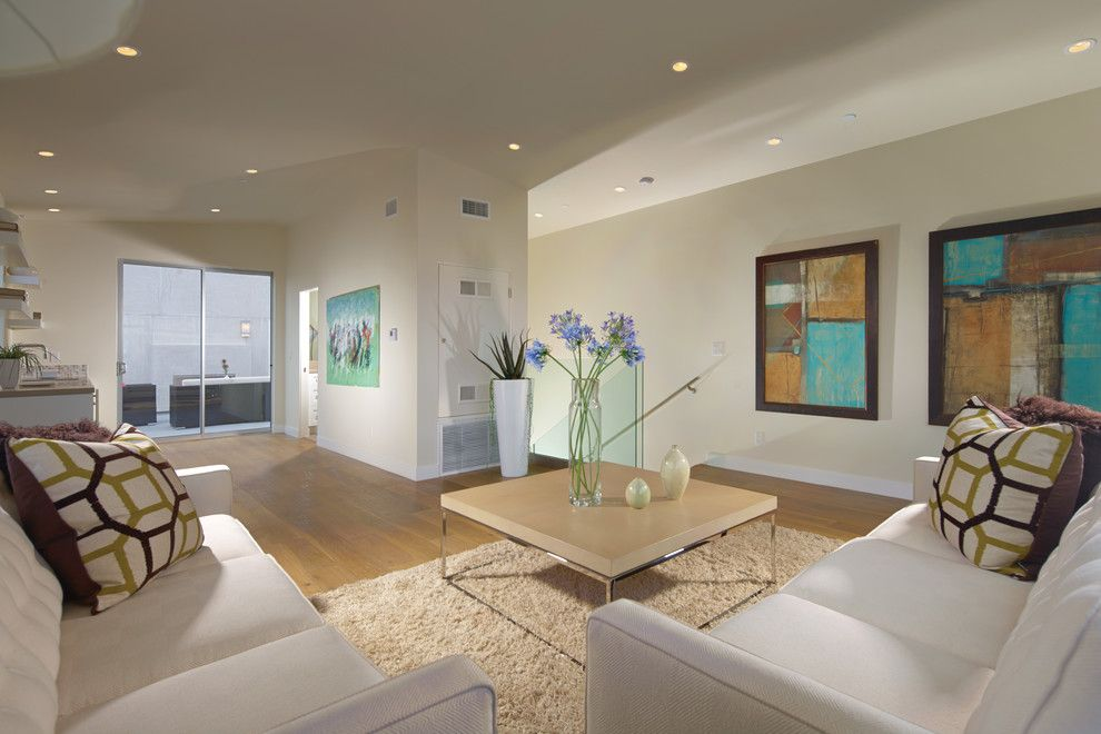 Rrm Design Group for a Contemporary Living Room with a Metal Casing and Newport Beach Residence by RRM Design Group