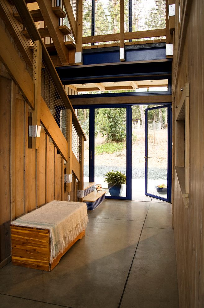 Rrm Design Group for a Industrial Entry with a Entry Bench and Mesa View Residence by Rrm Design Group