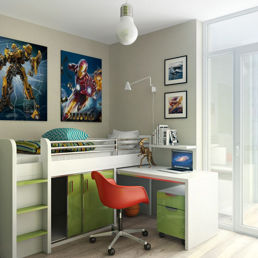 Rudy Furniture for a Contemporary Kids with a Desk Chair and 43 M2 by Archiforms Studio