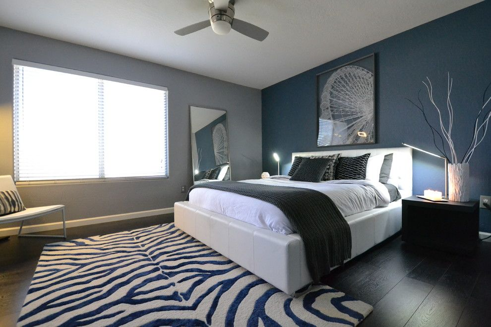 Rugsusa for a Contemporary Bedroom with a Contemporary and Master Bath Makeover by Faizi Design
