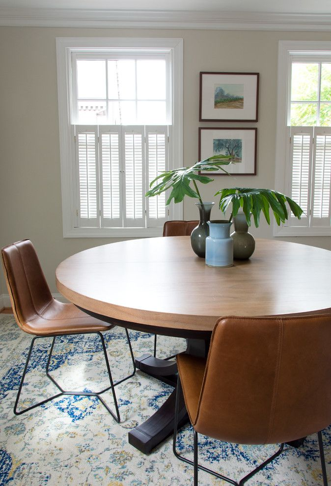 Rugsusa for a Transitional Spaces with a Conference Table and Office by Powell Brower Interiors