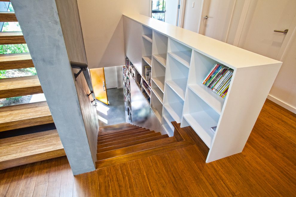 Runnings Bismarck Nd for a Contemporary Staircase with a Staircase Wall and Phinney by Stephenson Design Collective