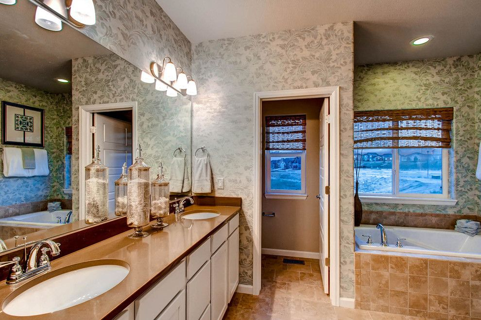 Saint Aubyn Homes for a Transitional Bathroom with a Transitional and 2015   Parade of Homes by Housing & Building Association of Colorado Springs