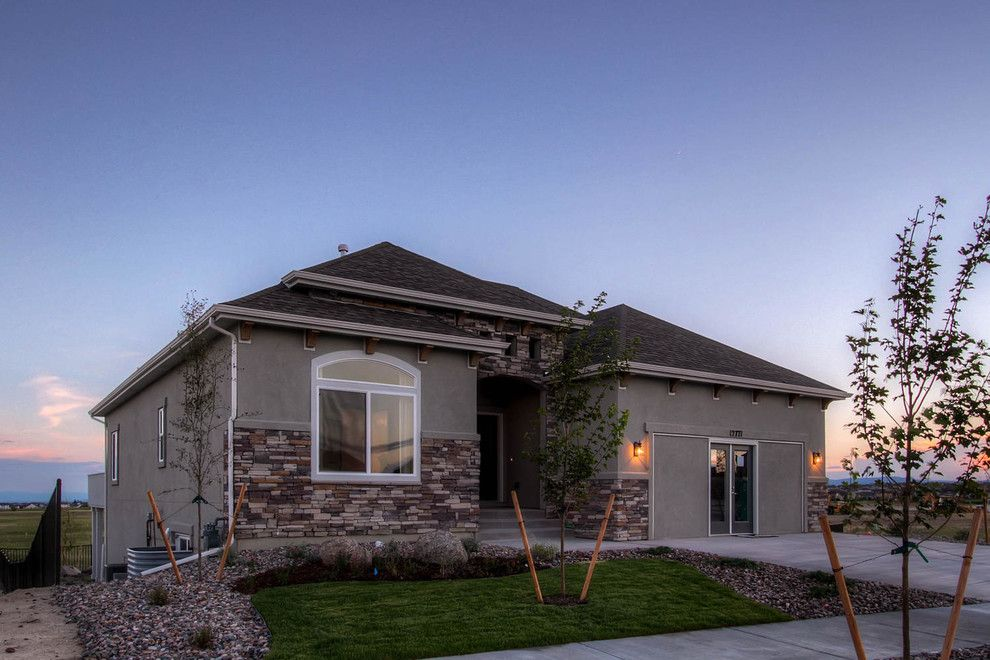 Saint Aubyn Homes for a Transitional Exterior with a Transitional and 2015   Parade of Homes by Housing & Building Association of Colorado Springs