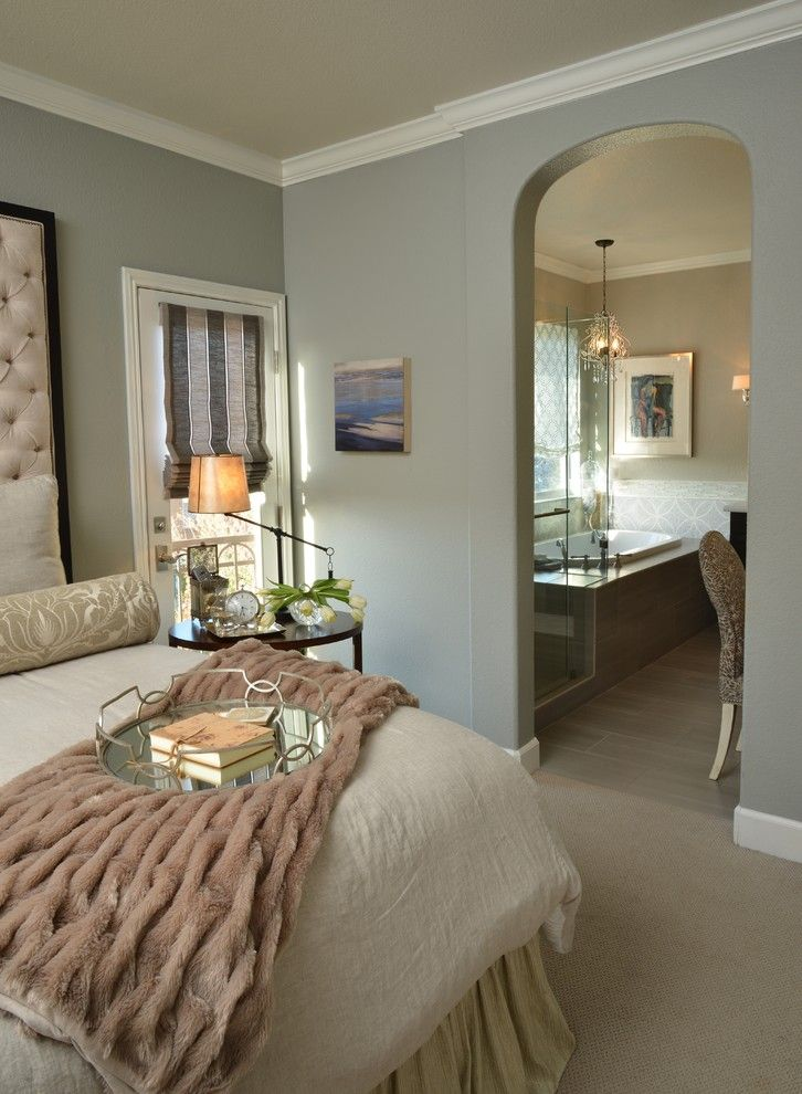 Sallys Store for a Transitional Bedroom with a Neutral Colors and Bay Area Remodel by Le Reve Design & Assoc.
