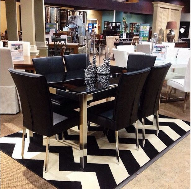 Sam Levitz Tucson for a  Dining Room with a Black Dining Table and Dining Tables by Sam Levitz Furniture