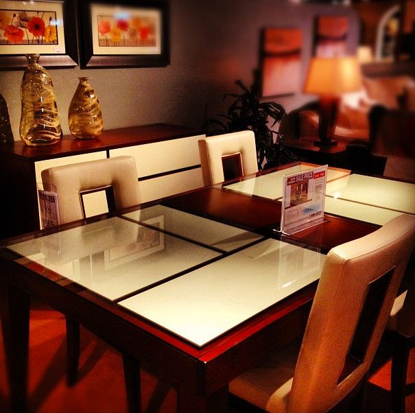 Sam Levitz Tucson for a  Dining Room with a Glass Top Table and Dining Tables by Sam Levitz Furniture