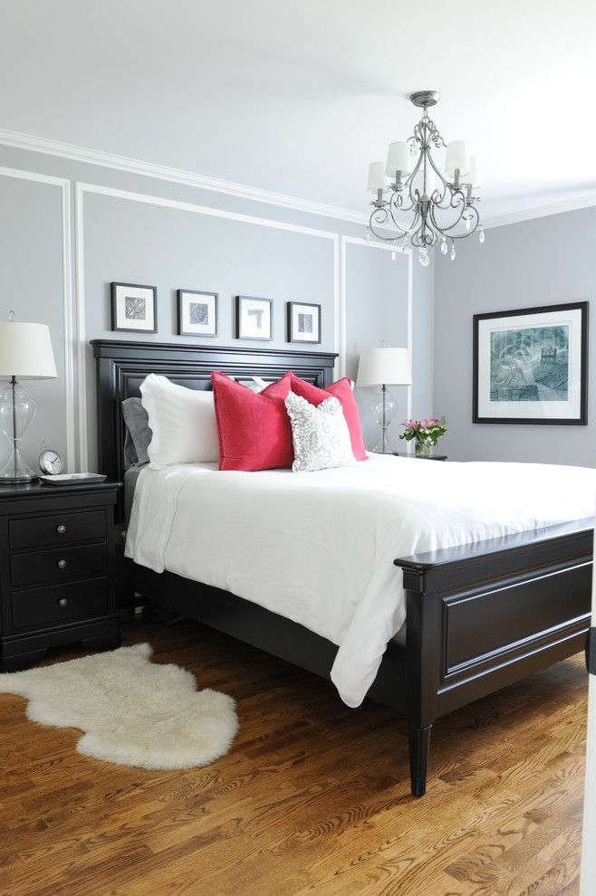 Sam Moore Furniture for a Traditional Bedroom with a White Bed Linens and His and Hers Master Bedroom by Simply Home Decorating