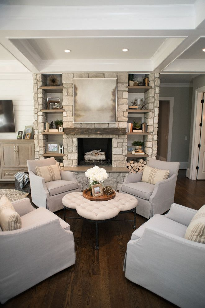 Sam Moore Furniture for a Traditional Family Room with a Fireplace and Milton   Addition by Distinctive Remodeling Solutions, Inc