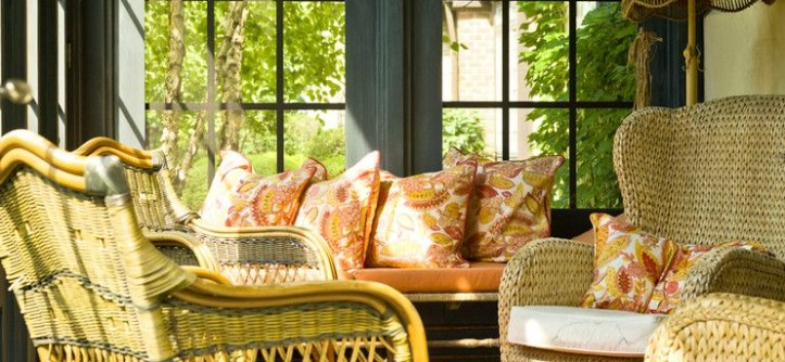 Sam Moore Furniture for a Traditional Porch with a Outdoor Furniture and Simplifying in the Suburbs by Cynthia Lynn Photography