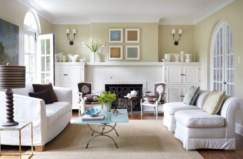 Sam Moore Furniture for a Transitional Living Room with a Round Top Doors and Winnetka Avenue by Boomgaarden Architects