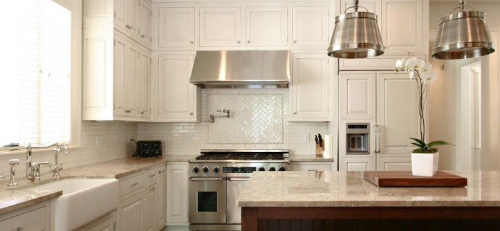 Sanded vs Unsanded Grout for a Traditional Kitchen with a Island Pendants and Kitchen by Dresser Homes