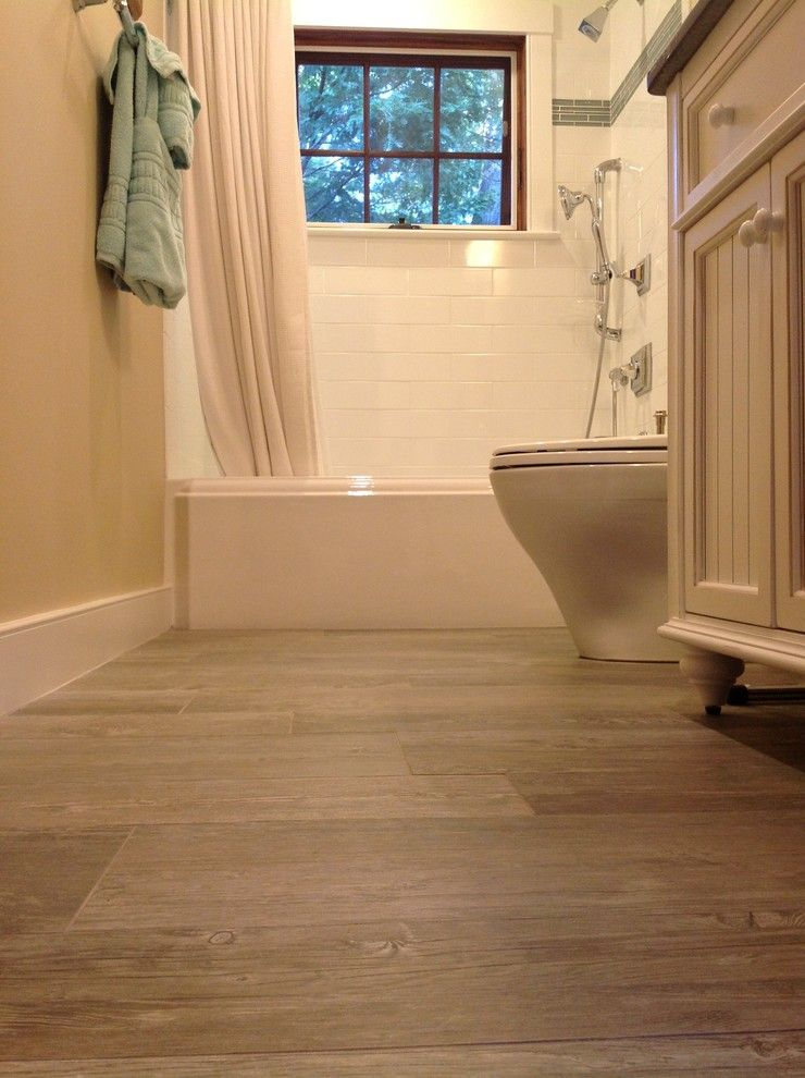 Sanded vs Unsanded Grout for a Transitional Bathroom with a Polished Chrome and Project N & a by Lafauci Tile and Marble