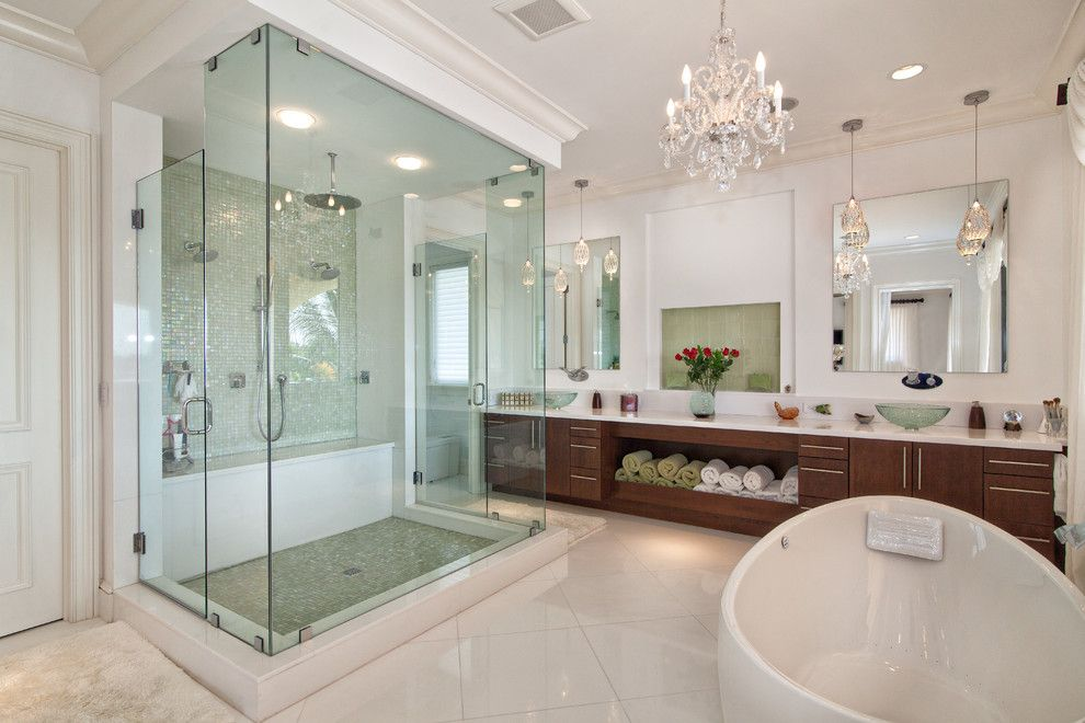 Sanded vs Unsanded Grout for a Transitional Bathroom with a White Trim and Sea Ranch Lakes Home by Trilogy Construction Company