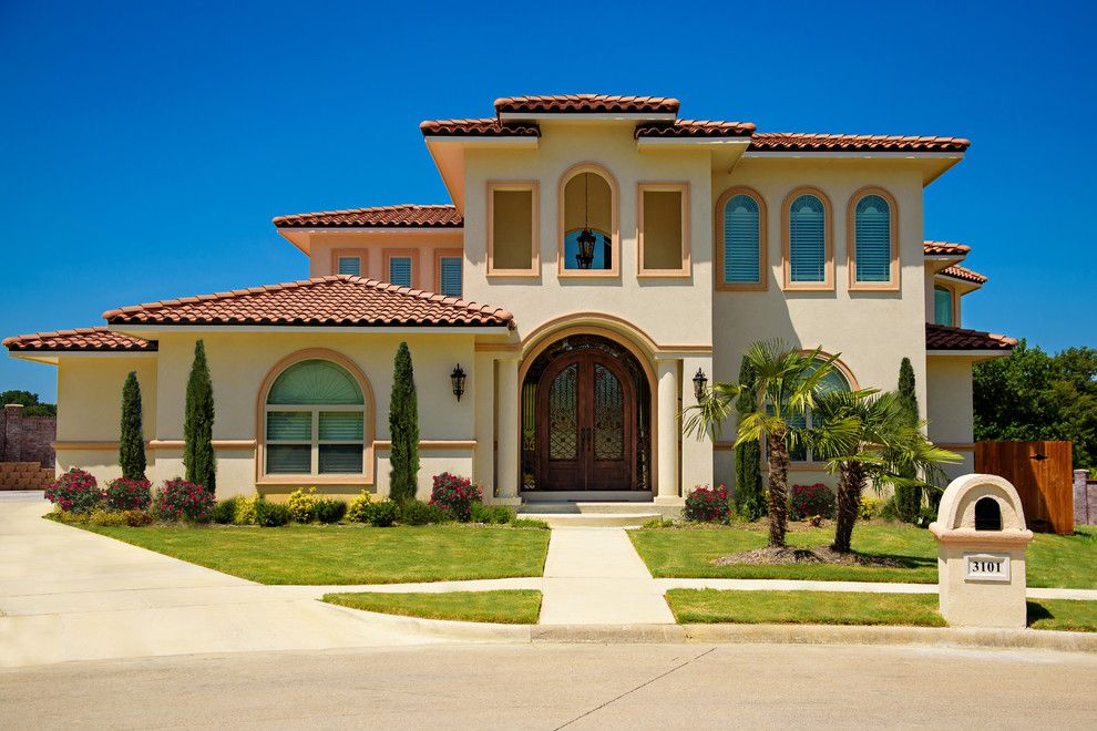 Sandlin Homes for a Southwestern Exterior with a Irving and New Custom Homes by Christopher Sandlin Homes