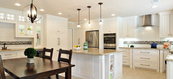 Sandlin Homes for a Transitional Kitchen with a White Cabinets and Kitchens by Christopher Sandlin Homes