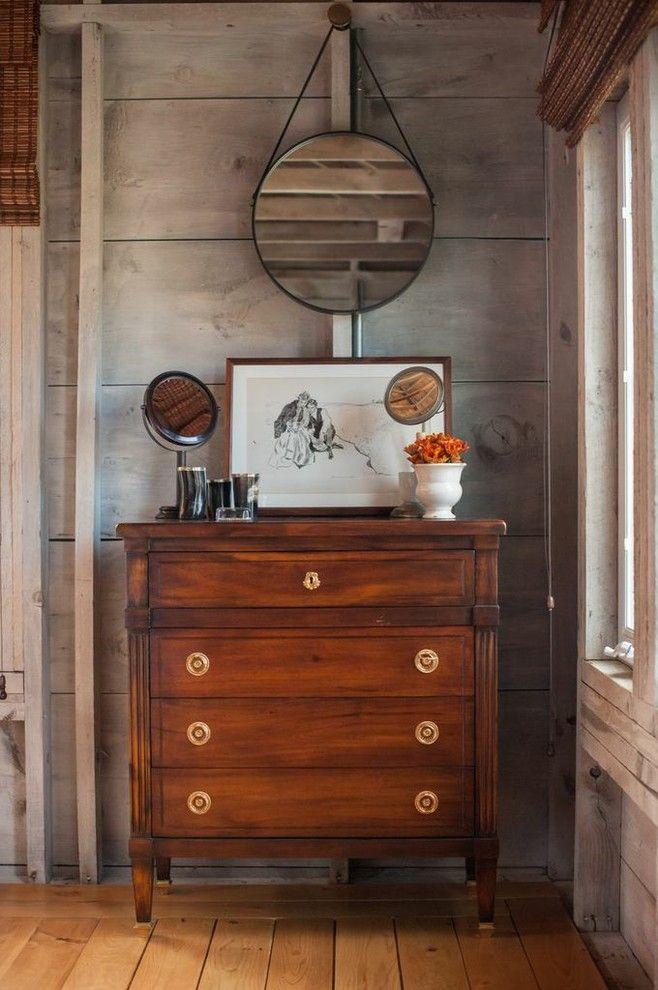 Sarreid for a Farmhouse Bedroom with a Farm and Flanagan Farm Portland Maine by Nastasi Vail Design