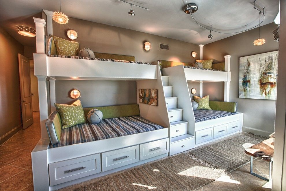 Satco Lighting for a Beach Style Kids with a Stairs and Signature Beach Condo | Cara Mcbroom & Joey Lasalle by Lovelace Interiors