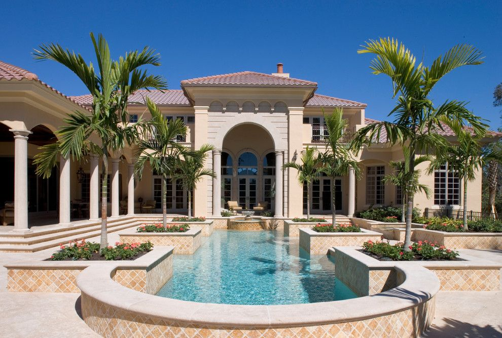 "Sater Design for a Mediterranean Exterior with a Sater Group and Sater Group's ""Cordillera"" Custom Home Plan by Sater Design Collection, Inc."
