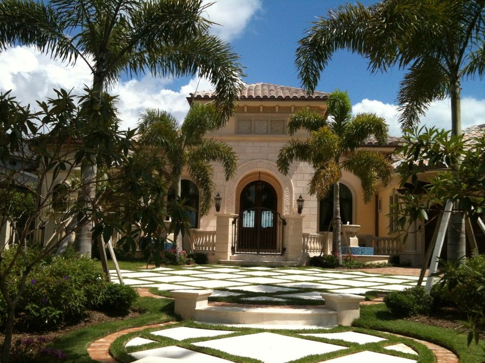 Sater Design for a Mediterranean Exterior with a Wall Lighting and Sater Group Luxury Home Plan Renovation by Sater Design Collection, Inc.