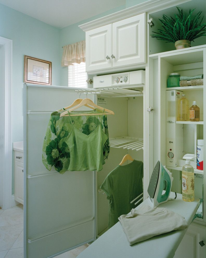 Sater Design for a Traditional Laundry Room with a Indoor Plants and Sater Design Collection's 6944