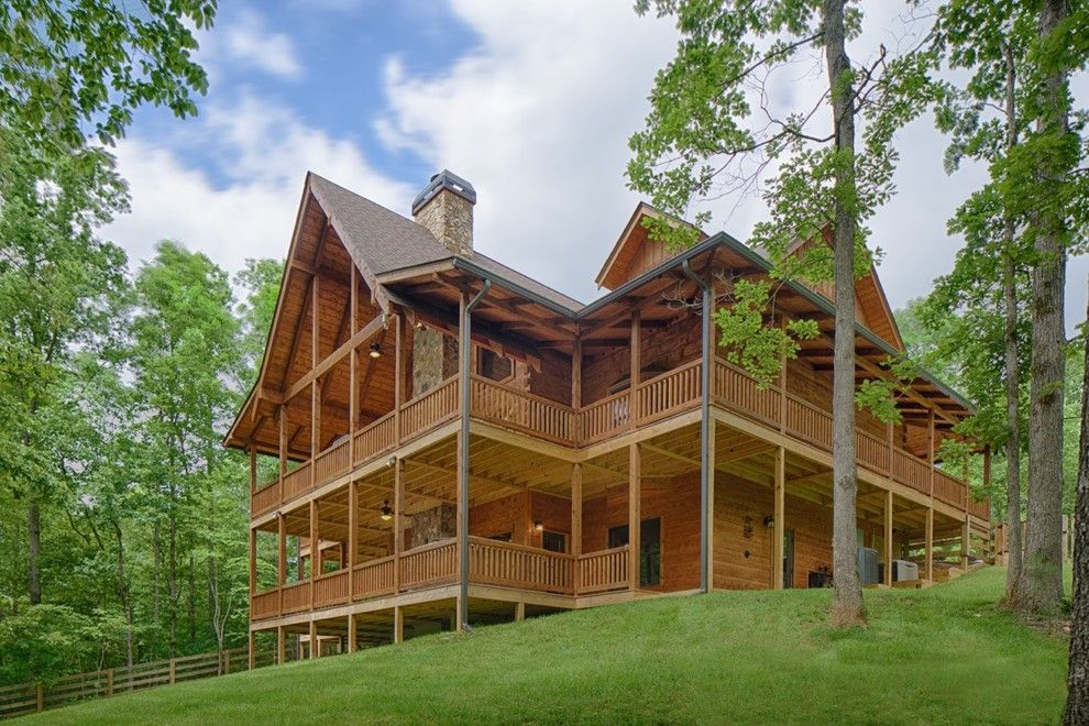 Satterwhite Log Homes for a Rustic Spaces with a Mountain Home and Modified Misty Ridge   Ellijay, Ga by Satterwhite Log Homes