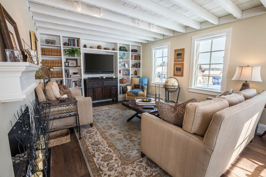 Saybrook Country Barn for a Traditional Living Room with a Built in and Real Customer Homes by Saybrook Country Barn Interior Design Services