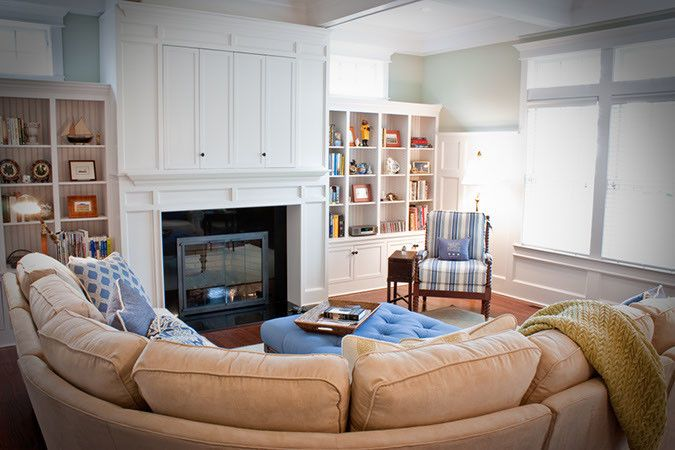 Saybrook Country Barn for a Transitional Spaces with a Transitional and Real Customer Homes by Saybrook Country Barn Interior Design Services
