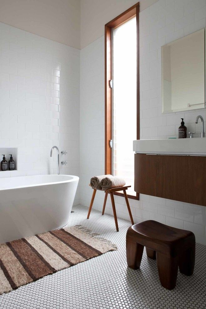 Schmitt Furniture for a Midcentury Bathroom with a Duravit and H&d House   One Small Room Design by One Small Room   Osr Interiors & Building Design