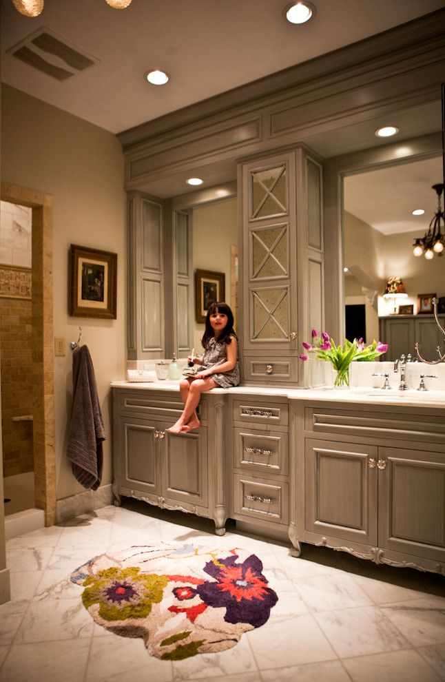 Schrock Cabinets for a Traditional Bathroom with a Vanity and Rausch House by Karr Bick Kitchen and Bath