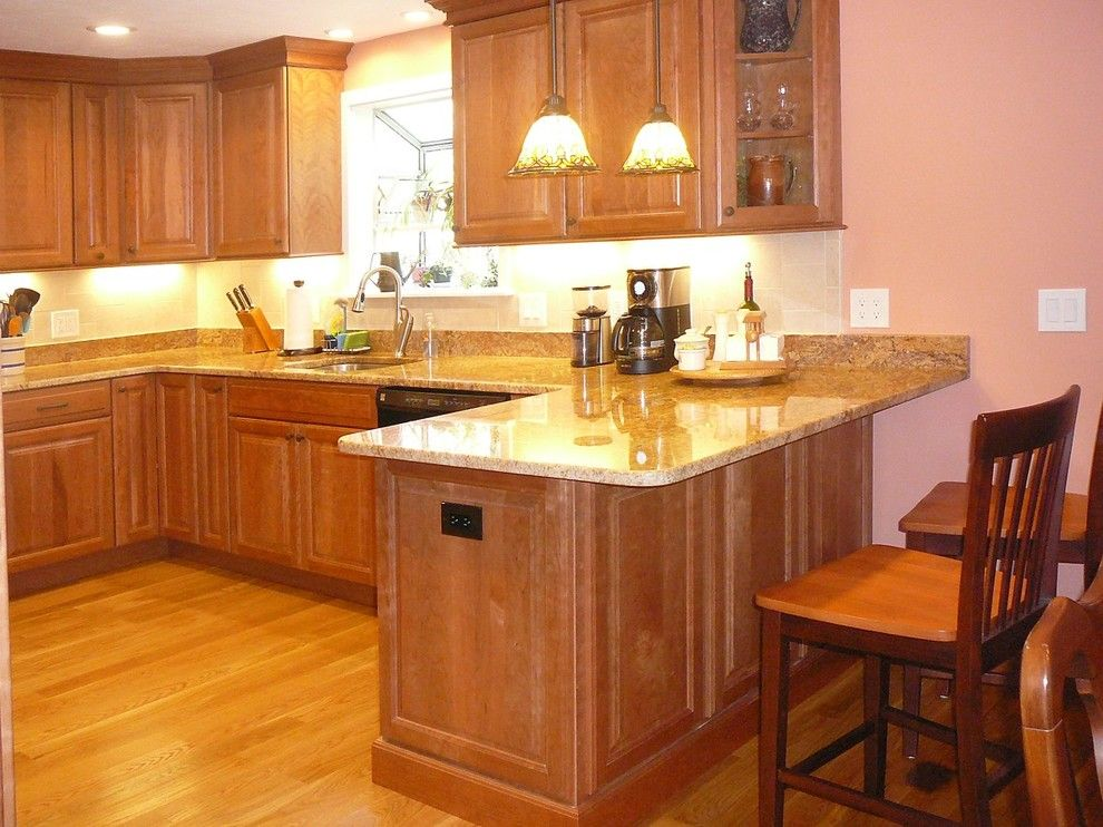 Schrock Cabinets for a Traditional Kitchen with a Granite Countertops and Holliston, Ma Kitchen by Kitchenviews.com