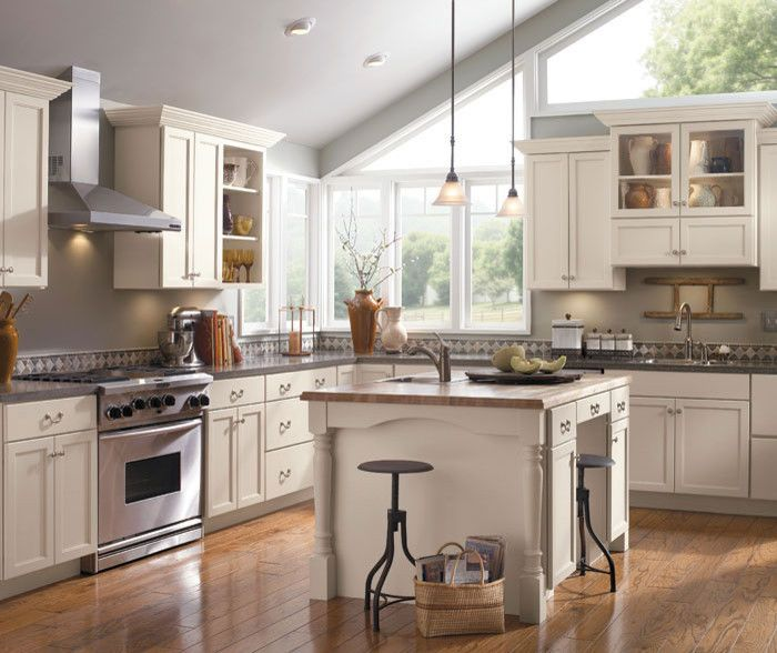 Schrock Cabinets for a Traditional Kitchen with a Remodel and Schrock Cabinetry by the Kitchen Works